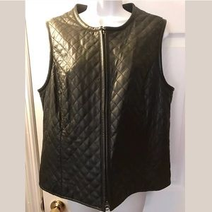 CASLON Quilted Leather Vest Nordstrom Soft Buttery